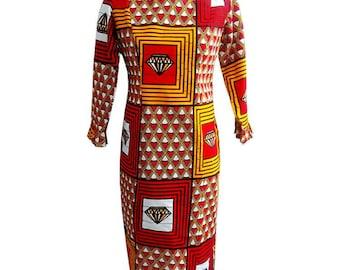BETHY African print pencil dress