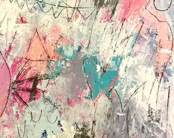 Original Abstract Art on Paper, modern art, abstract expressionism