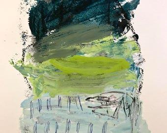 Original Abstract Art on paper, home decor, modern art