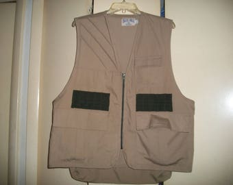 Vintage Blue Bill Redhead Tan Cotton Blend Hunting Vest Size L
