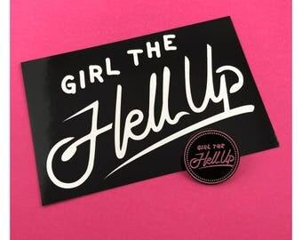 Girl the Hell Up Pin Sticker Pack Hollstein Ship Carmilla Enamel pin Web Series Vampire Clexacon LGBTQ Queer Natasha Negovanlis Elise Bauman