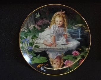 Very Collectable Danbury Mint Collectors Plate/Children of the Week/Mondays Child/Collectable/Vintage/1990s
