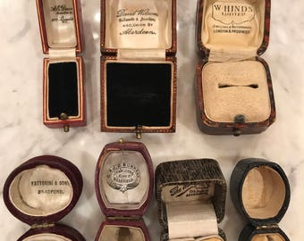 Lot of antique ring boxes 7