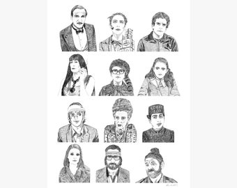 Wes Anderson Collection Print