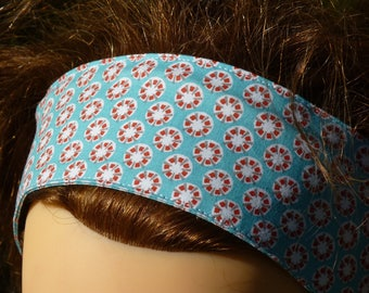 Modular print cotton headband hair band with wire