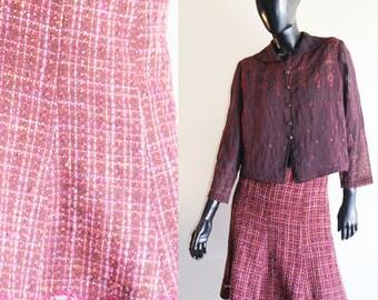 Vintage Cynthia Steffe FlaredTextured Skirt, Size 8