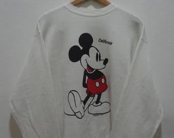 Vtg Mickey Mouse Sweatshirts Large Size L