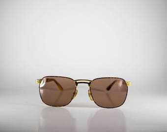 Alaska Adventure Mod AL4 K51/N Made in Italy Unisex Vintage Sunglasses Brown Gold Tortoise NOS/Deadstock-Free Shipping-ALAS71