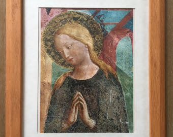 Framed Madonna Print • Made in Mexico Framed Virgin Mary Print • Vintage Mary Print