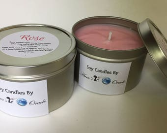 Rose 8oz Soy Candle