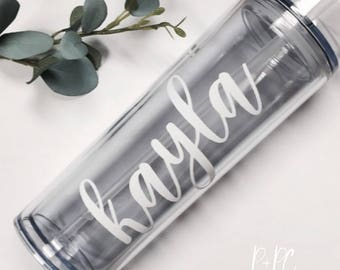 Personalized 16 oz. Skinny Tumbler