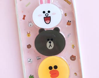READY TO SHIP line friends theme resin case for iphone 7 plus