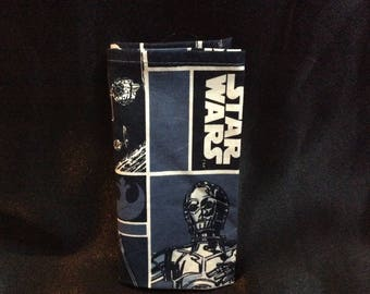 Star Wars Pocket Square, Blue & Black Pocket Sq, Star Wars wedding Acc, yoda, R2-D2, under twenty dollars, suit and tie acc