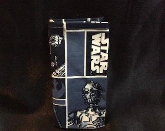 Star Wars Pocket Square, Blue & Black Pocket Sq, Star Wars wedding Acc, yoda, R2-D2, under twenty dollars, suit and tie acc