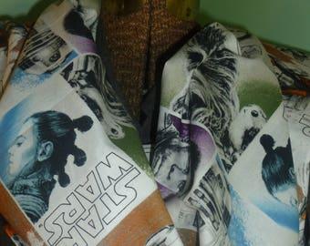"""Star Wars infinity scarf, 23"""" star wars infinity, porg infinity, white infinity, single loop infinity, star wars scarf"""