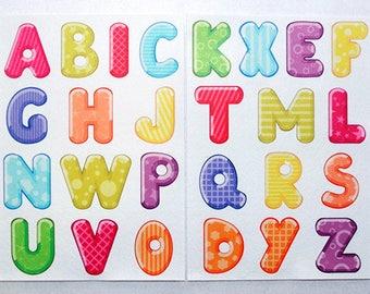 Alphabet. Printed sheets. Korean Felt. Eco-polyester 100%