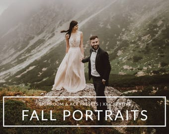 Fall Portraits Lightroom Presets & Photoshop Camera Raw Filters for Cool Modern, Moody Portrait Edits