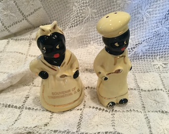 Collectible Black Americana salt and pepper shakers, Washington, D.C.