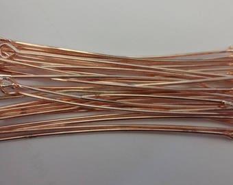 50 OR 100 x Brass Eyepins Rose Gold Plated 50mm  [21Gaug] e Premium Quality Best Eye pins