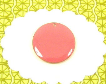 4 sequins pink coral 20 mm round 11