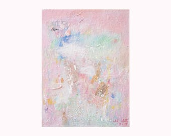What It Means To See: ORIGINAL abstract painting, Small 9x12 on stretched canvas, Contemporary Modern Art, Wall Art Home Decor, Canvas Art
