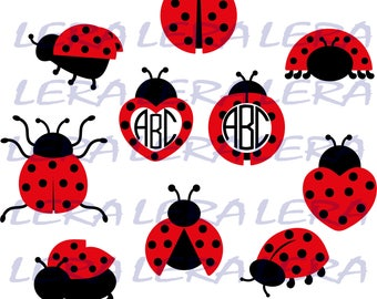 60 % OFF, Ladybug svg, Ladybug Monogram Frames SVG, Ladybugs Svg, Dxf, Eps, Png files for Cricut, Vector Art, Digital Cut Files