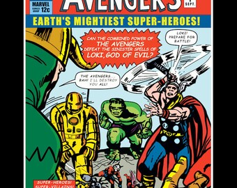 The Avengers Comic Cover #1 - World's Most Valuable Comics No 20