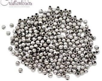 100 Silver spacer metal color matte 3 mm