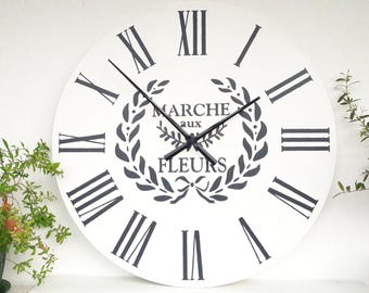Large Wall Clock 24 inch Wall Decor, Wedding gifts for couple, Big wall clock, big clocks for living room