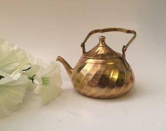 Mini Brass Decorative Teapot