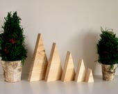 Wood Tree Triangles, Mix & Match Sizes, Ready to Paint, Christmas Craft, Holiday Kids Craft, Wood Mountains, Isosceles, Wood Christmas Trees