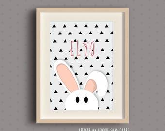Poster frame for child's room - rabbit
