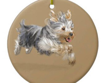 Yorkshire Terrier, Yorkie Ornament Customizable With Name!