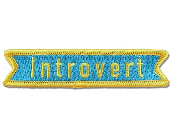 Introvert Iron On Embroidered Patch - Flair - Sew on - Patches - Embroidery - Christmas Gift - Stocking Stuffer