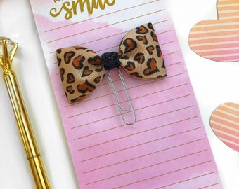 Cheetah Planner Clips / Leopard Planner Clips/ Planner Clips / Bow Planner Clip