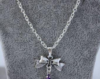 very pretty pendant necklace purple