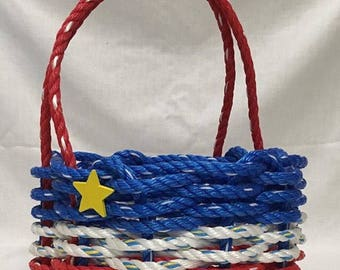 Small Acadian Rope Basket