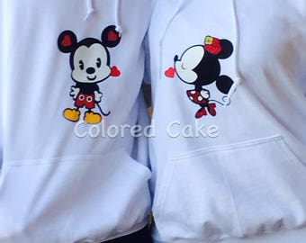 Mickey and Minnie Mouse couple cut in perfect layers to work in textile vinyl or self-adhesive