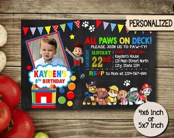 Paw Patrol Invitation,Paw Patrol Birthday,Paw Patrol Party,Paw Patrol Card,Paw Patrol Printable,Paw Patrol Birthday Party,Paw Patrol Boy