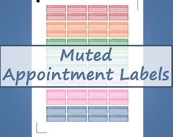 Appointment Labels -- Muted Colors