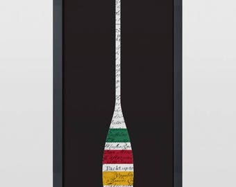 The Hudson Bay Heritage Edition Paddle Art Print