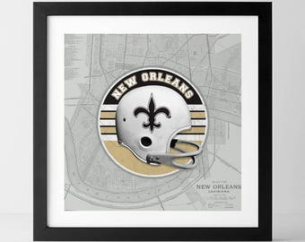 Vintage NFL: New Orleans Saints-inspired