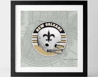 Vintage NFL: New Orleans Saints-inspired