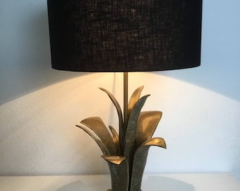Bronze table lamp Maison Charles era mid century modern 1970s