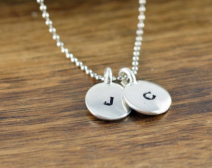 Mens initial necklace - pendant necklace - mens necklace - boyfriend gift - anniversary gift - Mens jewelry - gift for couple