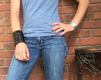 Wrist wallet, leather wrist wallet, wrist wallet cuff, bracelet wallet, leather ID holder, travel accessories, The Wearable Wallet
