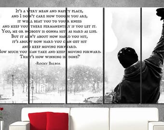 Rocky Balboa canvas Rocky Balboa poster Silvester Stalone Motivation print Movie canvas art Movie wall decor Sport wall decor Box art wall