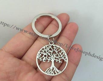tree keychain, tree gifts key ring