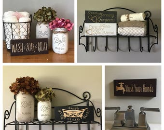 Rustic Country Home Decor Bathroom Sign Small Signs Mini Guest