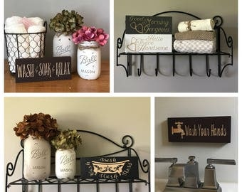 Rustic Chic Bathroom Decor bathroom decor | etsy
